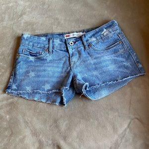 Levi's Denim Shorty Shorts